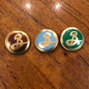 3 Brooklyn Beer pins.